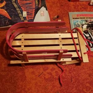 Radio Flyer Other - Wood Radio Flyer Rope Tow Cargo Little Red Sled